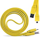 Direct-2-Your-Door - Blackberry 9790 Bold Super Fast 1 Metre Micro USB Flat Data Transfer Sync Charger Cable - Yellow