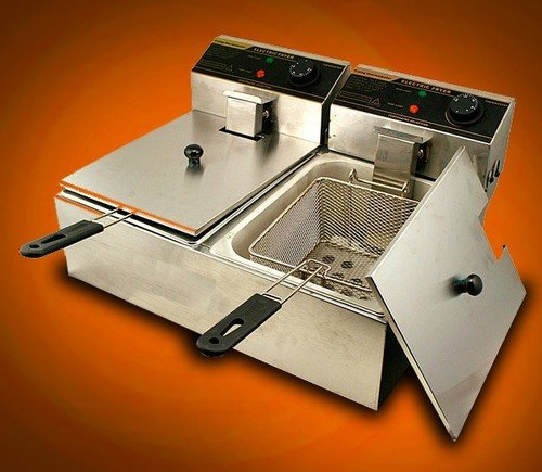 Commercial Dual Electric Countertop Fat Deep Fryer