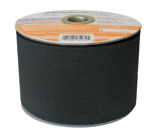 Review Stretchrite 3-Inch by 10-Yard Black Heavy Stretch Knit Elastic Spool