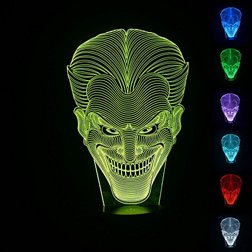 The Joker 3D Illusion LED Night Light