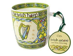 Q Beauty Galway ... china mug - Irish gift designed in Galway Ireland: Coffee Cups & Mugs