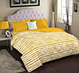 Portico New York Wendell Rodricks 210 TC Cotton Bedsheet with 2 Pillow Cover - Abstract, King Size, Multicolour