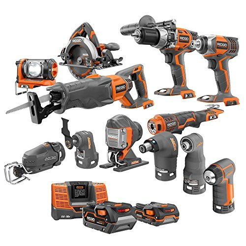 Ridgid X4 18-Volt Lithium-Ion Cordless Ultimate Contractor Kit (13-Piece) (Ridged Hammer Drill compare prices)