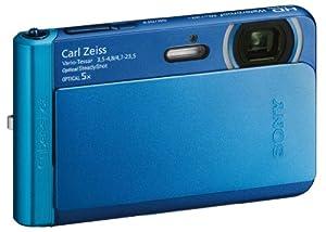 Sony DSCT-X30L Appareil Photo Numérique Full HD Etanche 18 Mpix Zoom optique: 5x Bleu