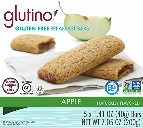 Glutino Gluten Free Breakfast Bars, Apple, 7.05 Ounce (Gluten Free Breakfast Bars compare prices)