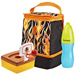 Austin Kids' Lunch Bag Kit with Water Bottle (Flames)