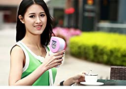 Portable Fan Handheld Mini Air Conditioner Cooler Cooling Fan Pink Color Travel with USB Rechargeable Packet Cooler Green Color in Summer Application for Women Girl Personal Care Tool Qeag