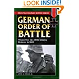 German Order of Battle: Vol.1, 1st-290th Infantry Divisions in WWII (Stackpole Military History Series)