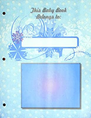 Adoption Baby Book Pages My Journey My Memory, Blue