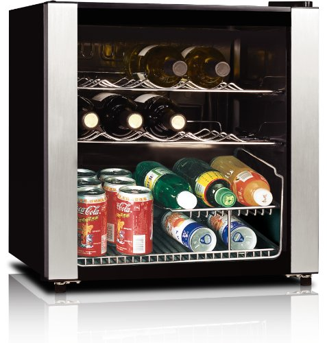 Best Price midea WHS-64W 16-Bottle Wine Cooler, Stainless Steel
