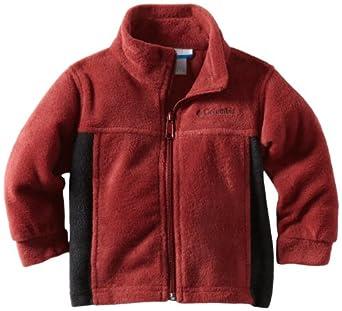 Columbia Big Boys' Steens Mountain Fleece, Red Element/Black, 10/12