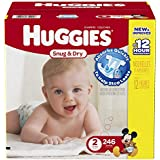 Huggies Snug and Dry Diapers, Size 2, Economy Plus Pack, 246 Count