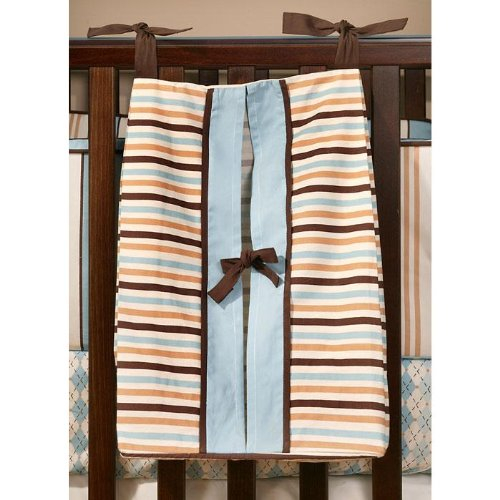 My Baby Sam Barefoot Dreamin Diaper Stacker, Blue/Brown