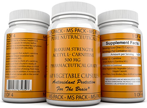 Ms Pack Maximum Strength Acetyl L Carnitine 500 Mg
