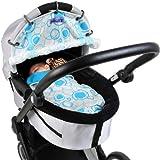 Dooky Para Cochecito de bebé, diseño de círculos de Aqua
