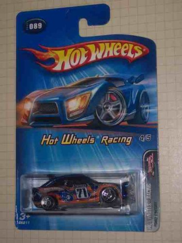 Hot Wheels Racing Series #4 Ford Escort Without Flame Behind Rear Wheel #2005-89 Collectible Collector Car Mattel Hot Wheels - 1