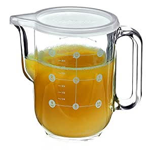 Amazon.com | Bormioli Rocco Frigoverre Measure Pitcher ...