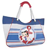 Betty Boop large beach bag sailor girl pinup red glitter anchor nautical stripes
