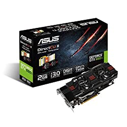 Asus GeForce GTX660 TI-DC2-2GD5 Nvidia Graphics Card (2GB, GDDR5, HDMI, DVI-I, DVI-D, Display Port, OpenGL 4.2, DirectX 11, Nvidia 3D Vision Surround Ready, PCI-Express 3.0)
