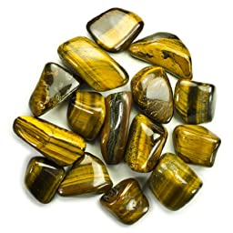 Hypnotic Gems Materials: 3 lbs Bulk Tumbled Gold Tiger Eye Stones from Africa - Natural Polished Gemstone Supplies for Wicca, Reiki, and Energy Crystal Healing *Wholesale Lot*