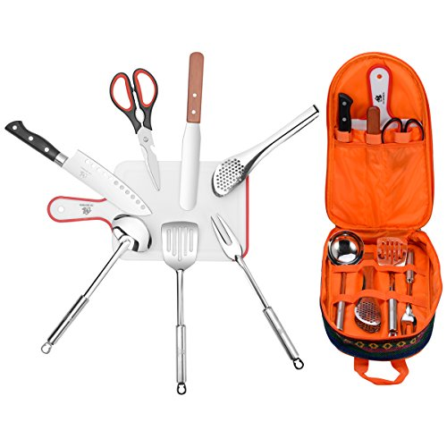 Travel Cooking Utensils Set (8 Items) (Camp Cooking Utensils compare prices)