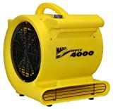 MAXXAIR HVCF4000 4000 CFM High Heavy-duty Carpet and Floor Drying Fan