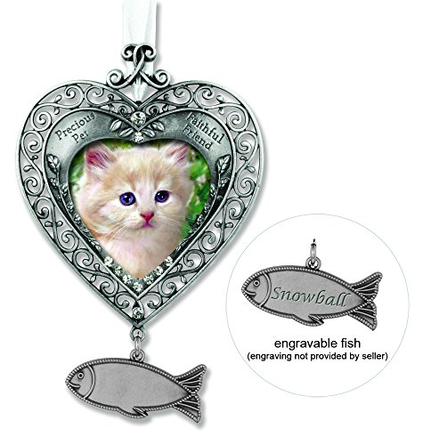 Engravable Cat Memorial Ornament