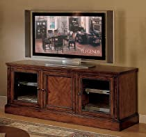 "Hot Sale Cambridge 65"" Dark Brown Cherry TV Entertainment Console"
