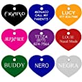 Heart Pet ID Tags | 2 Sizes Small Large | 8 Colors | by CNATTAGS® (LIFE TIME WARRANTY)