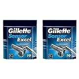 Gilletté Sensor Excel Refill Cartridges 20 Count (2x10 Count)