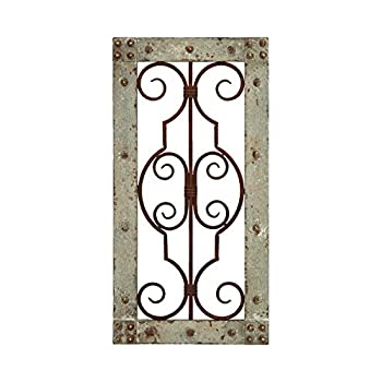 Deco 79 Antiqued Wooden and Metal Wall Panel with Vintage Ruggedness
