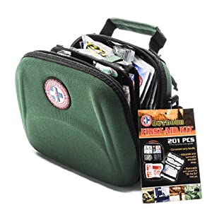 OUTDOOR FIRST AID KIT 201 PC FOR CAMPING, BOATING, FISHING, HUNTING