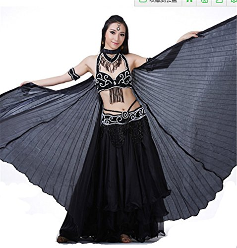Isis Wings Dreamspell® Belly Dance Black Isis Big Wings No Sticks Transparent