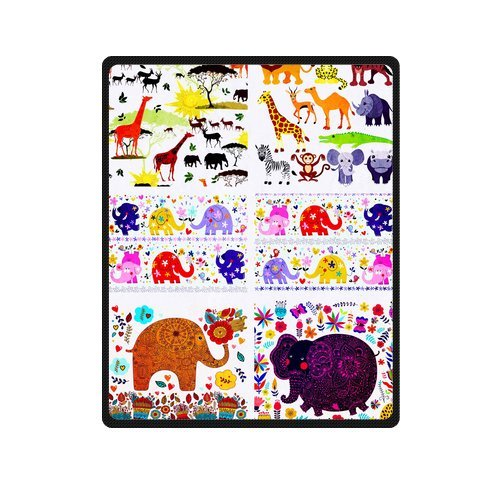 "Sweet And Romantic Couple Elephants In Love Custom Blanket 40""X 50""(Small) front-1073008"