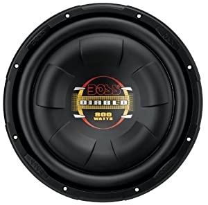 Boss D10F PHANTOM 10-Inch 4-Ohm Flat Subwoofer from BOSS AUDIO