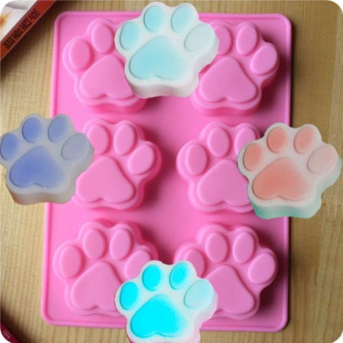 Bingirl Dog Cat Paw Print Silicone Bakeware Mould Chocolate Mold Cookie Candy Soap Resin (Resin Cookie Mold compare prices)