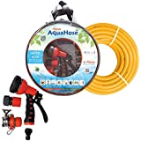 AquaHose Water Hose Set For Window Cleaning 7.5mtr (12.5mm ID) Hose Pipe