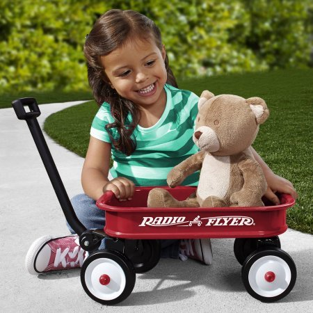 Toy-Version-Kids-Little-Red-Toy-Wagon-With-Solid-Grip-By-Radio-Flyer