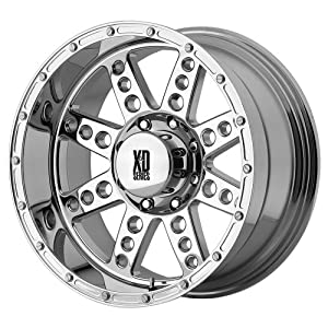 22×14 KMC XD Diesel (Virtual Chrome) Wheels/Rims 8×165.1 (XD76622480876)