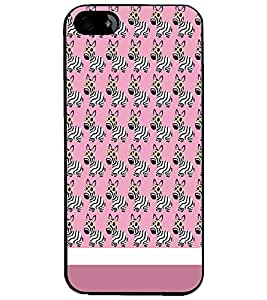 PrintDhaba Zebra Pattern D-1310 Back Case Cover for APPLE IPHONE 4S (Multi-Coloured)