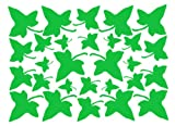Set of ivy leaves -various sizes vinyl car sticker/ wall decal.