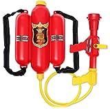 C-Life 大容量 水鉄砲 ウォーターガン バックパック 消防士 バズーカ 超強力飛距離 ポンプアクション式
