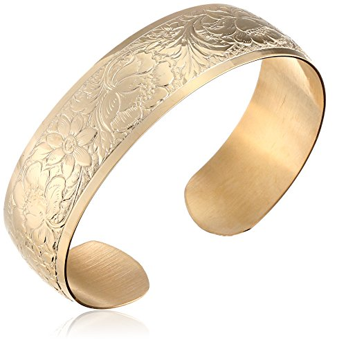 Under $150: Pretty Embossed Gold-Filled Cuff Bracelets