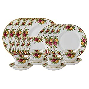 Amazon Com Royal Albert Old Country Roses 20 Piece