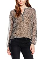 Tom Tailor Blusa lucy leo blouse/408 (Leopardo / Marrón Claro)