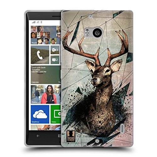 Head Case Designs Stagione Di Caccia Polysketch Cover Morbida In Gel Per Nokia Lumia Icon / 929 / 930