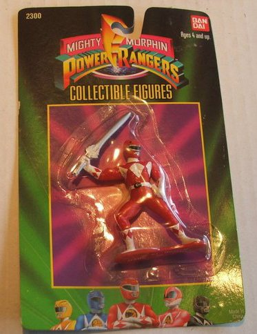 Picture of Bandai 1993 Mighty Morphin Power Rangers Collectible Figure : Red Ranger (B004AGVN7E) (Power Rangers Action Figures)