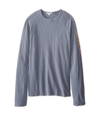 James Perse Men's Graphic Raglan Pullover