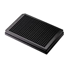 Corning CellBIND 3683 Polystyrene Flat Bottom 384 Well Black Microplate, With Lid, 0.06sq cm Cell Growth Area (Case of 50)
