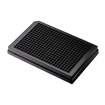 Corning Thermowell GOLD 3756 Polypropylene Round Bottom 384 Well PCR Black Microplate, Without Lid (Case of 50)